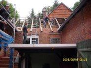 Arbeiten am Dachstuhl