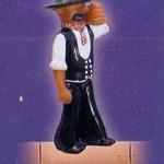 Ein Zimmermann als Dachschmuck