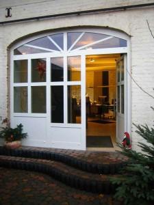 Die Eingangstür zum Büro Hannig